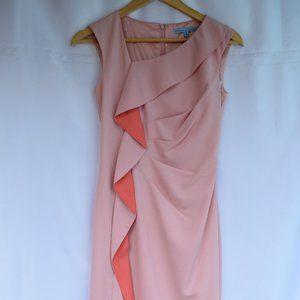 Antonio Melani Crepe Ruffled Sheath Dress (Size 0)